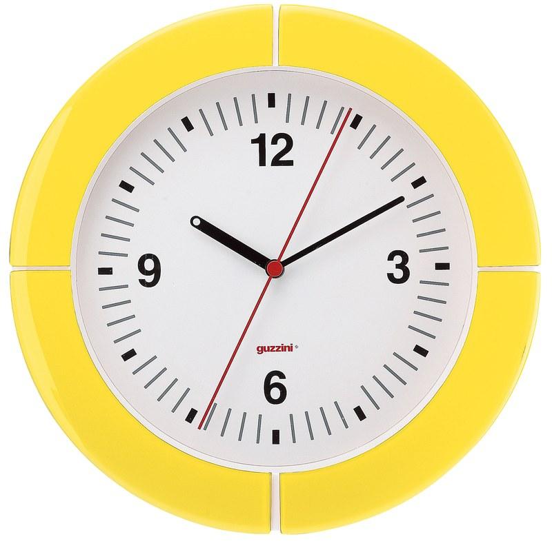 guzzini グッチーニ ウォールクロック 2895.0088イエロー 7-2502-0806 掛時計 (TKG17-2502)