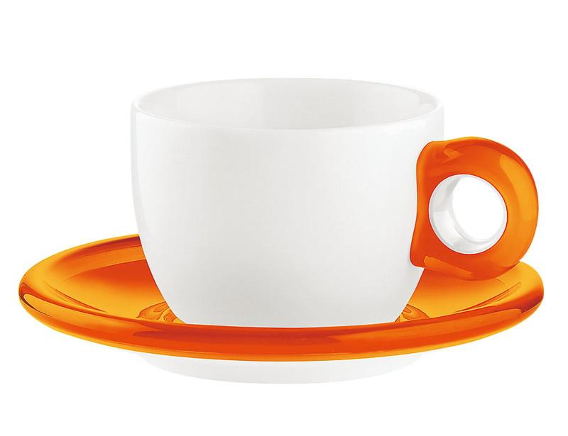 [TKG16-2148] ティー/コーヒーカップ 2客セット 2774.0045オレンジ