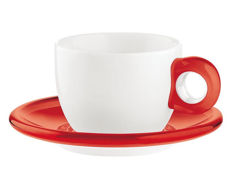 [TKG16-2148] ティー/コーヒーカップ 2客セット 2774.0065レッド