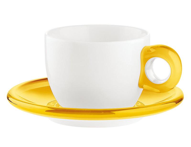 [TKG16-2148] ティー/コーヒーカップ 2客セット 2774.0088イエロー