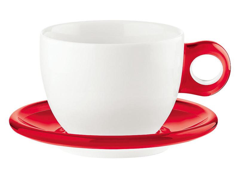 [TKG16-2148] ラージコーヒーカップ 2客セット 2775.0065レッド