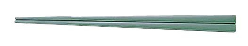 [TKG16-1642] メラミンすべり止め付角箸(50膳入) 22.5cm緑