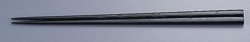 [TKG16-1642] 木箸 京華木 チャンプ 細箸(50膳入) 23.5cm(黒)