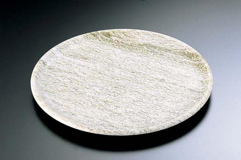 [TKG16-1962] 石器 丸皿 YSSJ-011 30cm