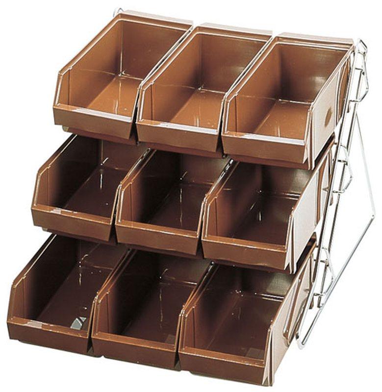 SAスタンダード オーガナイザー 3段3列(9ヶ入)ブラウン 7-0814-1103 カトラリーボックス (TKG17-0814)
