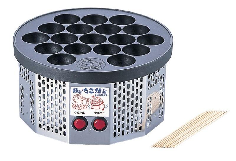 電気式 半自動踊るたこ焼き器 7-0930-0701 たこ焼器
