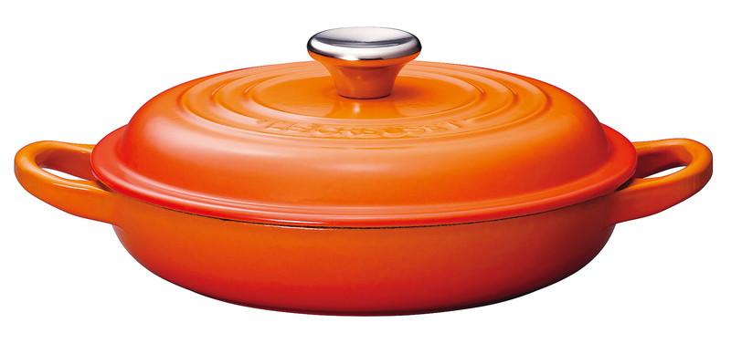 [TKG16-0084] ル・クルーゼ ビュッフェキャセロール 2132 18cmオレンジ