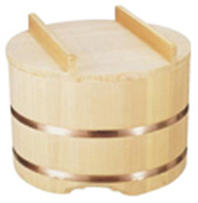 [TKG16-0617] のせ蓋おひつ (7合用) 24cm