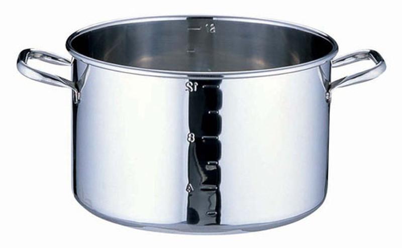 [TKG16-0011] SAパワー・デンジ半寸胴鍋 目盛付 蓋無 42cm