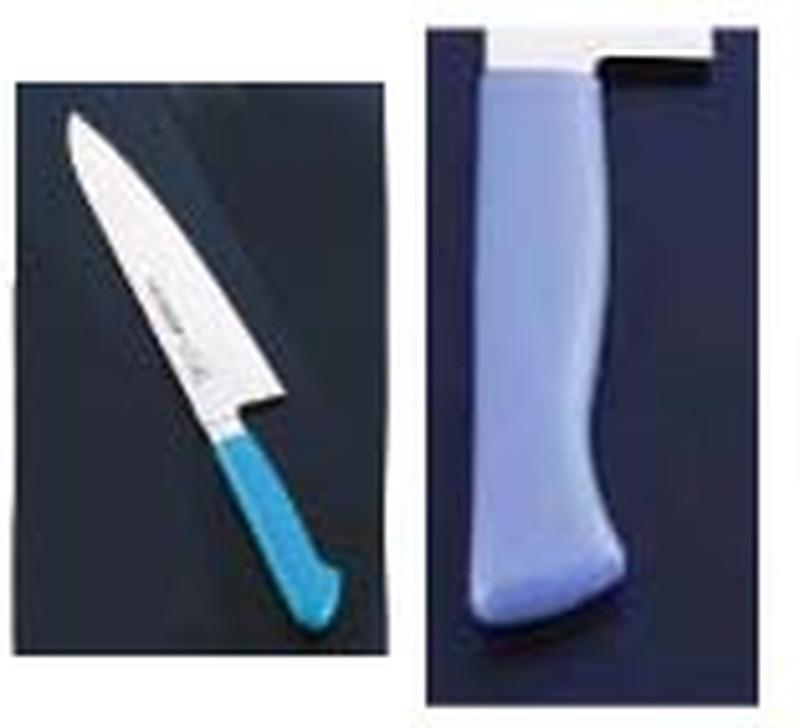 牛刀 (TKG17-0319) MGK-180マリンブルー 洋庖丁(牛切) 抗菌カラー庖丁 7-0319-0517 18cm