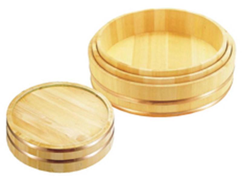 [TKG16-0478] 木製銅箍 飯台(サワラ材) 48cm