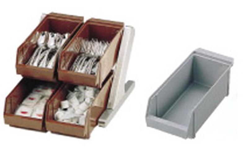 SA18-8 デラックス オーガナイザー 2段2列(4ヶ入)グレー 7-0814-0201 カトラリーボックス