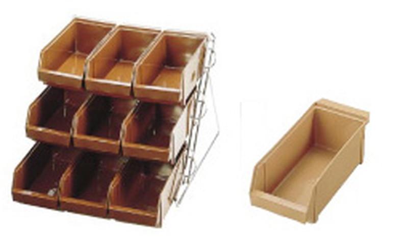[TKG16-0774] SAスタンダード オーガナイザー 3段3列(9ヶ入)キャメル