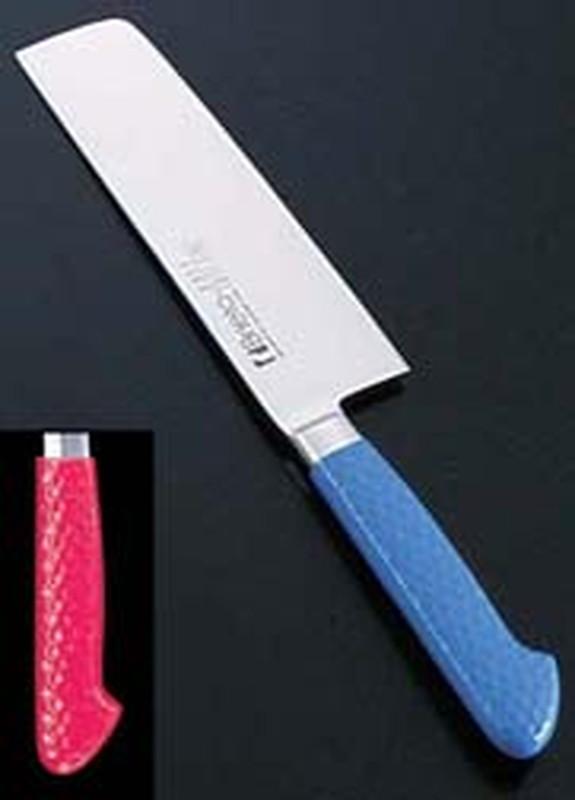 抗菌カラー庖丁 菜切 18cm MNK-180レッド 6-0309-0614 和庖丁(菜切)