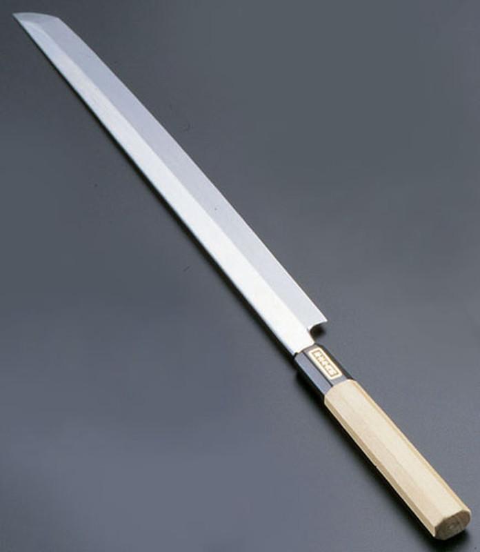 [TKG16-0271] SA佐文 本焼鏡面仕上 蛸引木製サヤ  33cm