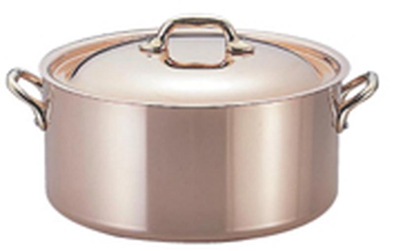 [TKG16-1673] モービルカパーイノックス半寸胴鍋(蓋付) 6522.20 20cm