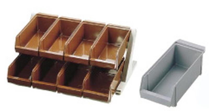 [TKG16-0774] SA18-8デラックス オーガナイザー 2段4列(8ヶ入)グレー