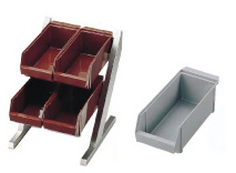 [TKG16-0773] SA18-8コンパクトオーガナイザー 2段2列(4ヶ入)グレー