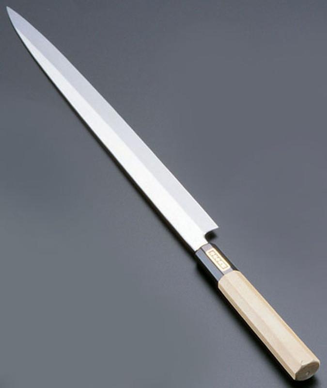 [TKG16-0271] SA佐文 本焼鏡面仕上 ふぐ引 木製サヤ  33cm