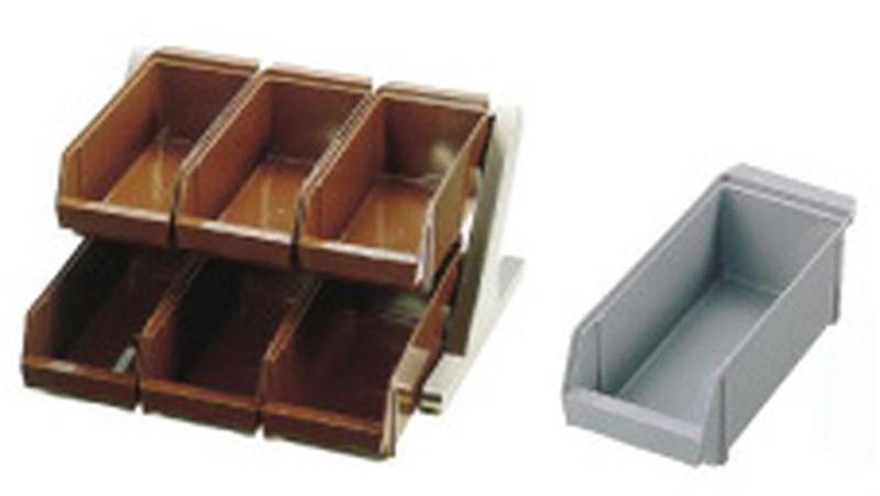 SA18-8 デラックス オーガナイザー 2段3列(6ヶ入)グレー 7-0814-0301 カトラリーボックス