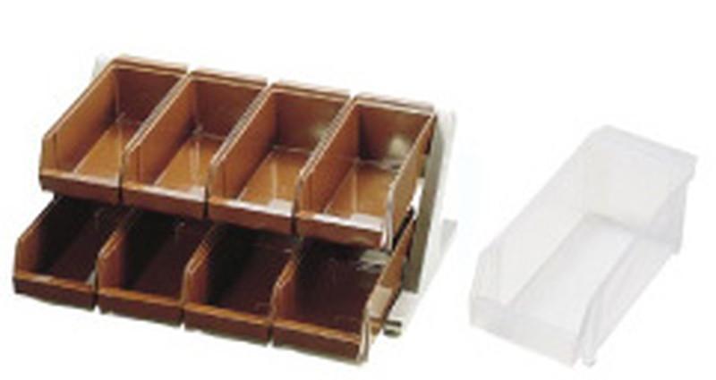 [TKG16-0774] SA18-8デラックス オーガナイザー 2段4列(8ヶ入)ホワイト