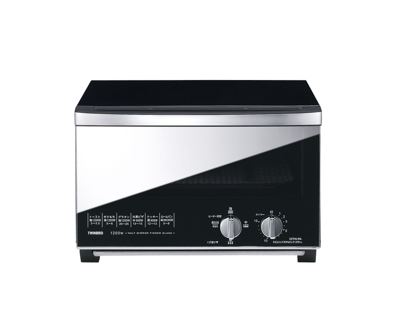[TKG16-0858] ミラーガラス オーブントースター TS-D047B