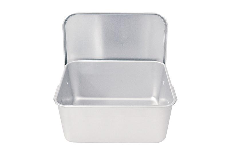[TKG16-0146] アルマイト 重なるパン箱(蓋付) TA-30(25~35人対応)