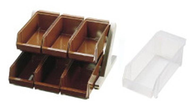 SA18-8 デラックス オーガナイザー 2段3列(6ヶ入)ホワイト 7-0814-0305 カトラリーボックス