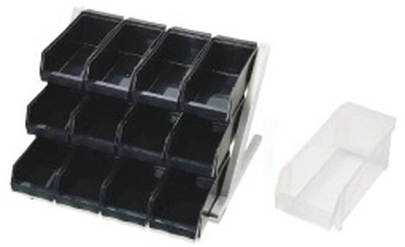 [TKG16-0774] SA18-8デラックス オーガナイザー 3段4列(12ヶ入)ホワイト