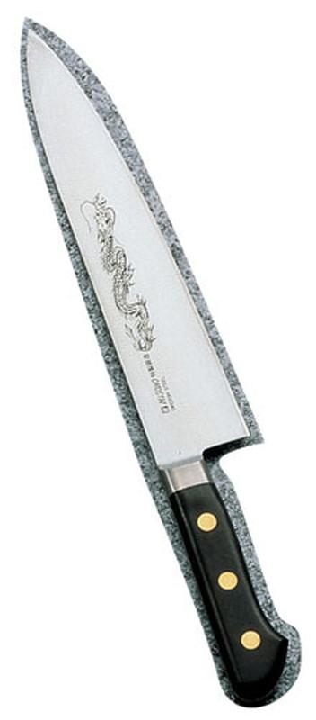 [TKG16-0285] ミソノ・スウェーデン鋼(龍彫刻入)牛刀 No.114M27cm