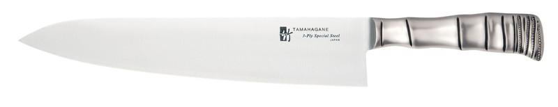 タマハガネ 竹 牛刀(両刃) TK-1104 24cm 7-0307-0403 洋庖丁(牛切) (TKG17-0307)