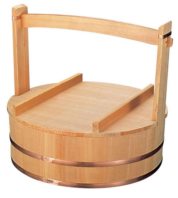 [TKG16-0363] 木製出前岡持(椹製)  53cm