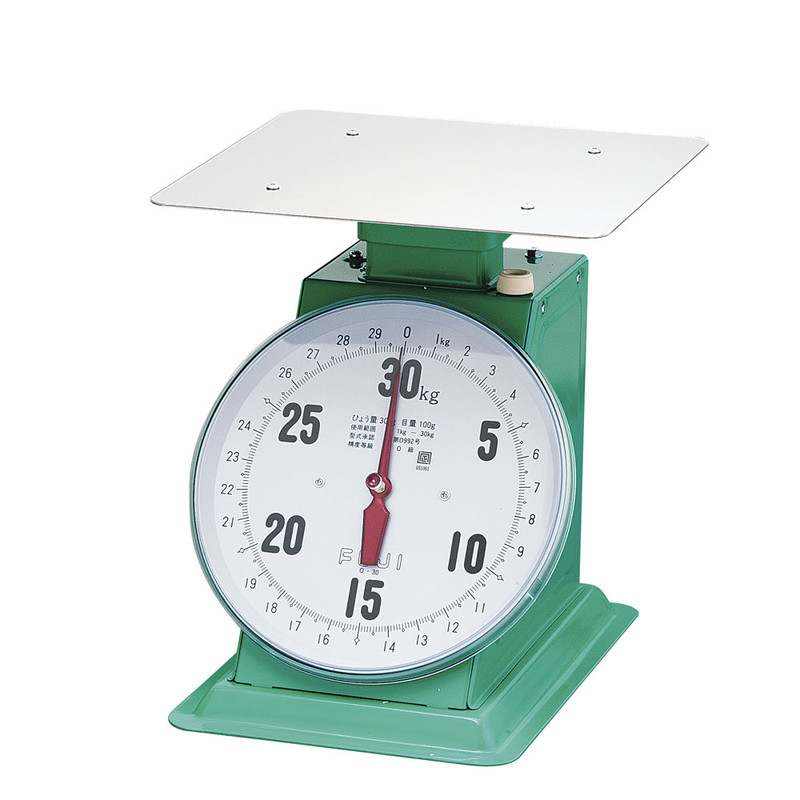 [TKG16-0541] フジ 上皿自動ハカリ デカO型  30kg(平皿付)
