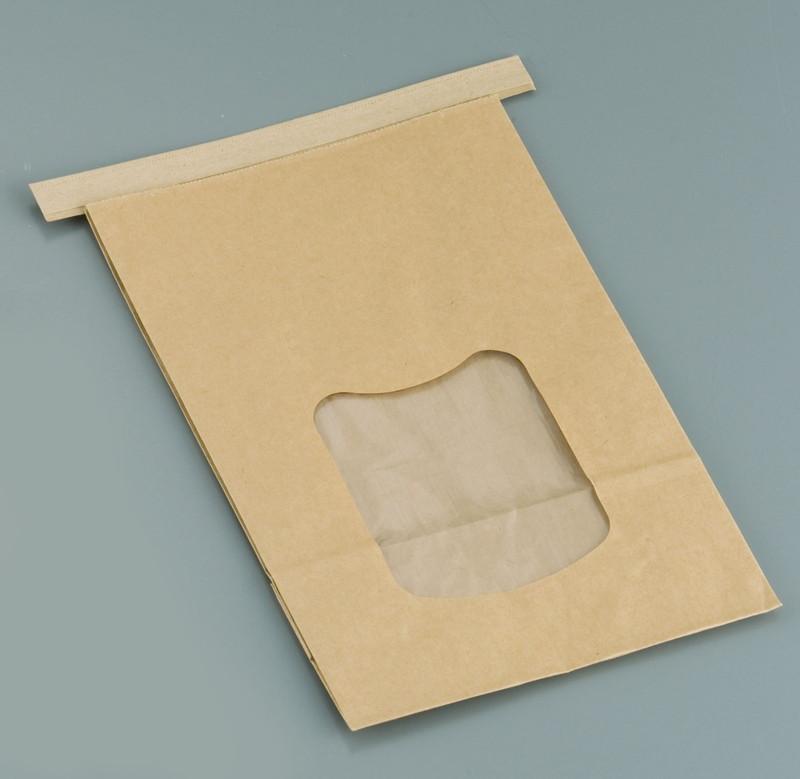 [TKG16-0876] クラフト窓付きティンタイ袋(ワイヤー付)  L(400枚入)