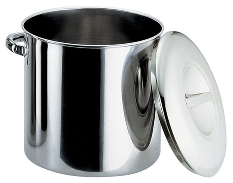 [TKG16-0199] エコクリーン18-8内蓋式キッチンポット  45cm(手付)