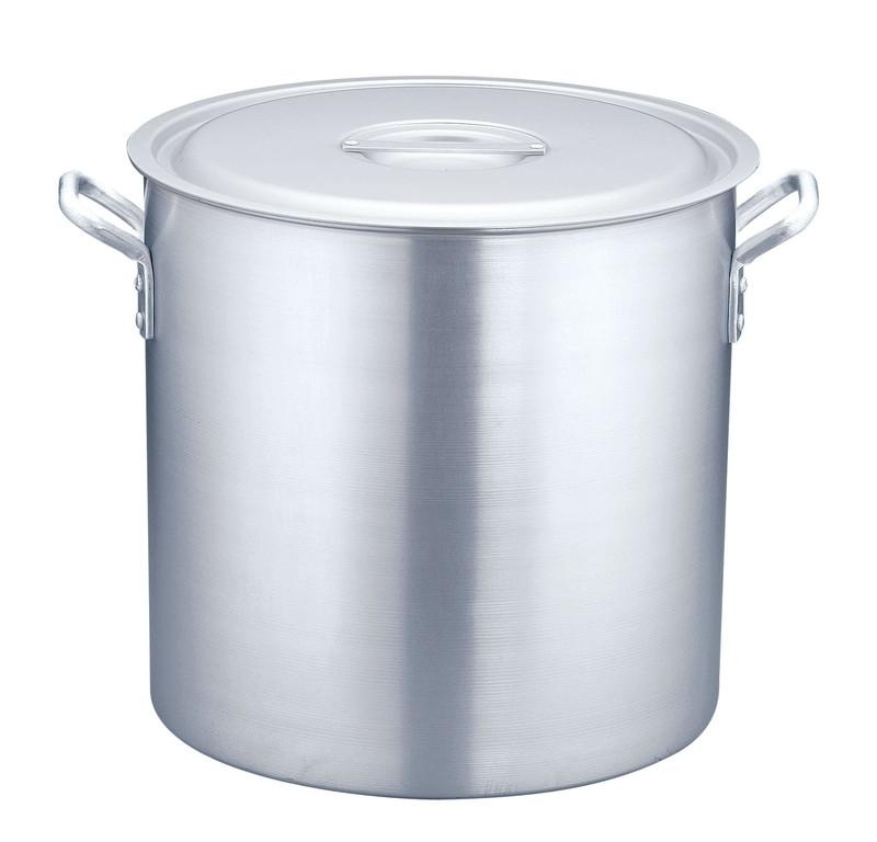[TKG16-0035] 寸胴鍋 アルミニウム(アルマイト加工) (目盛付)TKG51cm