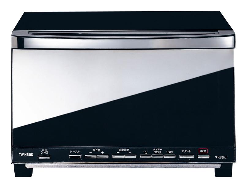 [TKG16-0858] ミラーガラス オーブントースター TS-D057B