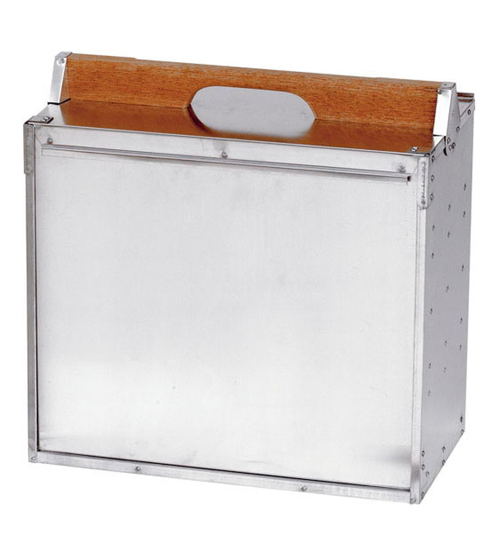 [TKG16-0363] アルミ 出前箱 横4段