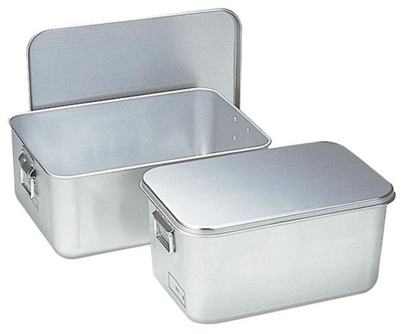 [TKG16-0146] アルマイト プレス製給食用パン箱(蓋付)  25845個入
