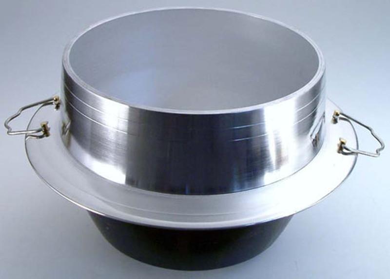 [TKG16-0357] アルミイモノ 羽釜 (カン付)  40cm