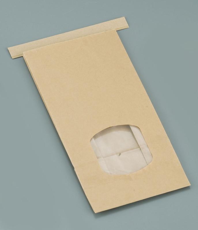 [TKG16-0876] クラフト窓付きティンタイ袋(ワイヤー付)  M(400枚入)