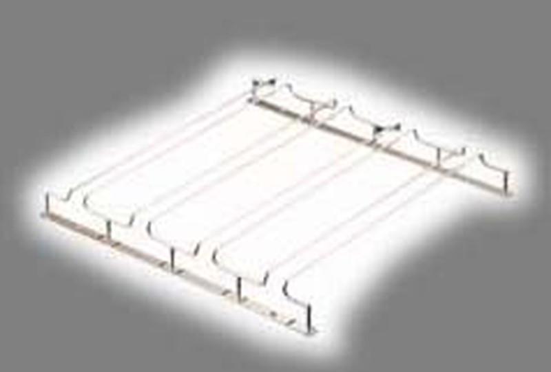 [TKG16-2059] グラスフレーム ダブルエントリー 4連24金メッキ