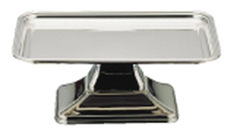 [TKG16-1560] UK18-8バロン角型ケーキコンポート 14インチ