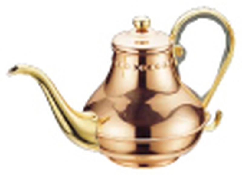 銅 アラジン コーヒーポット5人用 (ティーポット兼用) 7-0854-2201 コーヒーポット