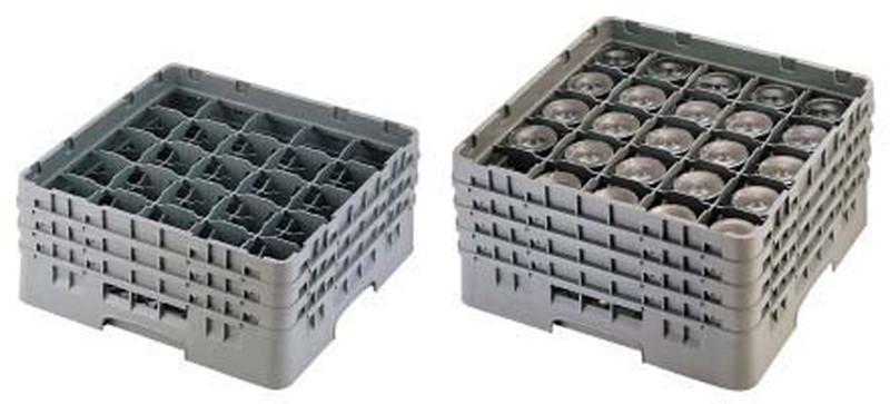 CAMBRO キャンブロ 25仕切 ステムウェアラック 25S1114 6-1130-0311 ラック(食器・グラス用)
