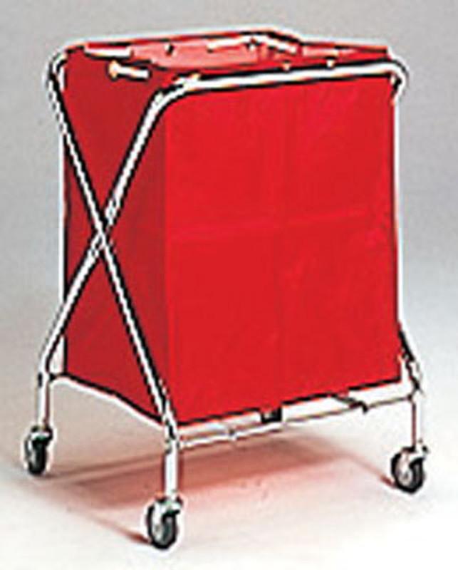 BM ダストカー 大 赤 7-1297-0102 リネンカート