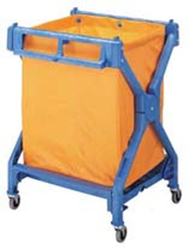 ダストカートX-J 6-1240-0801 ダストカート(ゴミ箱集積用)