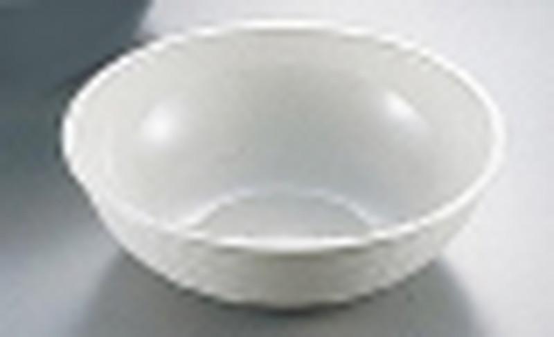 [TKG16-1465] キャンブロ 丸型リブタイプサラダボール RSB23CW(ホワイト)