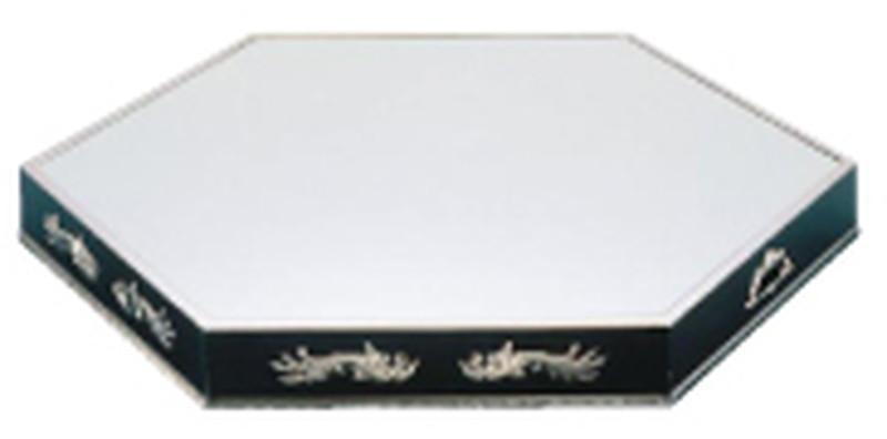 [TKG16-1536] UK18-8六角型ミラープレート 24インチ(ブラックアクリル)