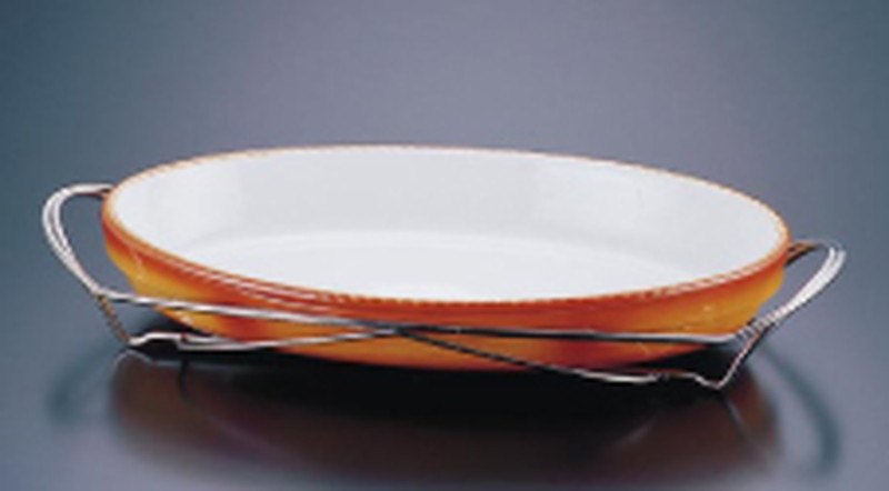 SAシャトレ 小判グラタンセット 11-3011-44B 6-1479-0401 ビュッフェ用大皿(洋食器)